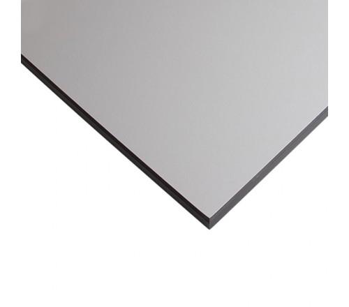 Компакт-плита FUNDERMAX HPL 0074 FH Сірий пастельний FINE HAMMER Pastel Grey 4100x610x12 (чорне ядро)