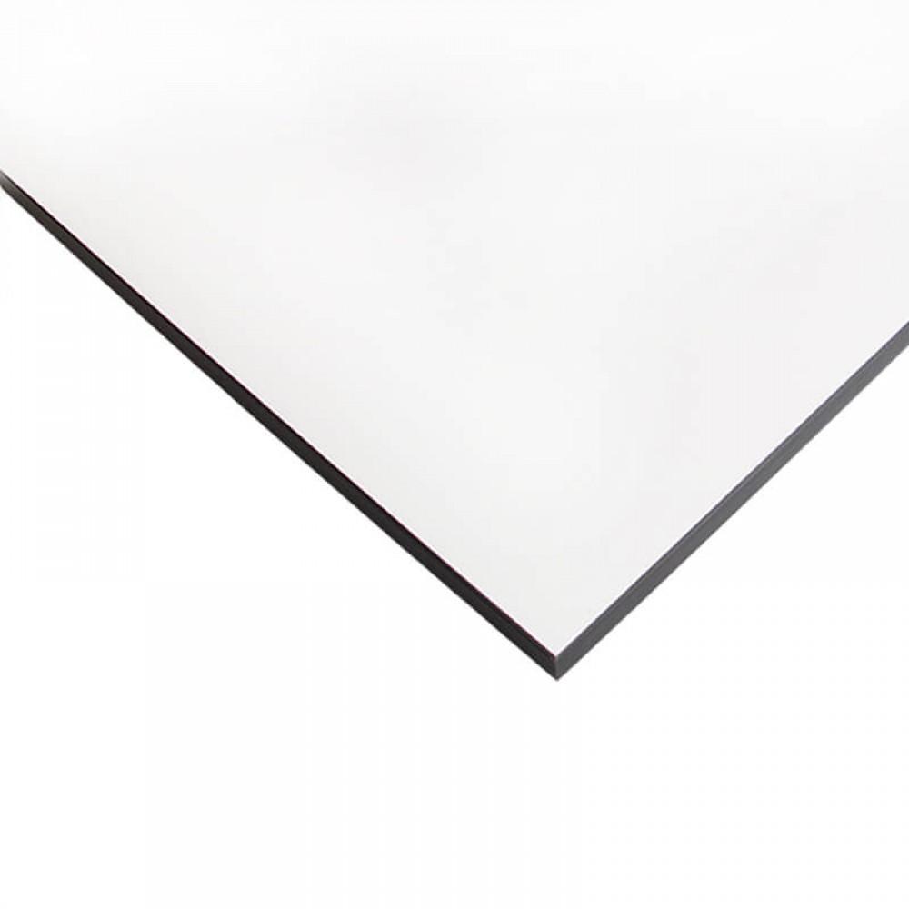 Компакт-плита FUNDERMAX HPL 0085 FH Білий FINE HAMMER White 4100x610x12 (чорне ядро)