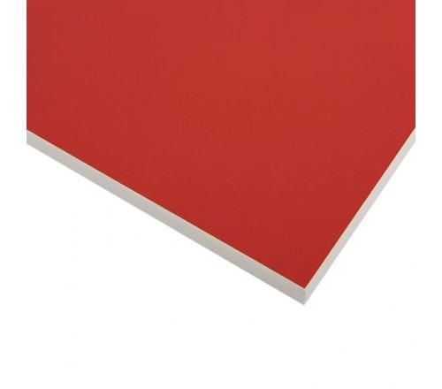 Компакт-плита FUNDERMAX HPL 0210 FH Інтенсивний червоний POP ART Intensive red 4100x610x12 (Біле ядро)