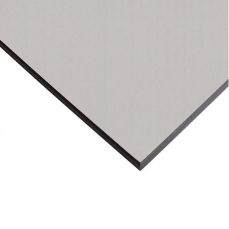 Компакт-плита FUNDERMAX HPL 0328 FH Алюміній браш FINE HAMMER Brushed Aluminium 4100x610x12 (чорне ядро)